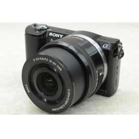 [中古] SONY デジタル一眼カメラα5000 パワーズームレンズキット ブラック ILCE-5000L(B)