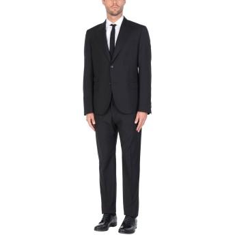 《セール開催中》DANIELE ALESSANDRINI メンズ スーツ ブラック 54 ポリエステル 70% / レーヨン 30%