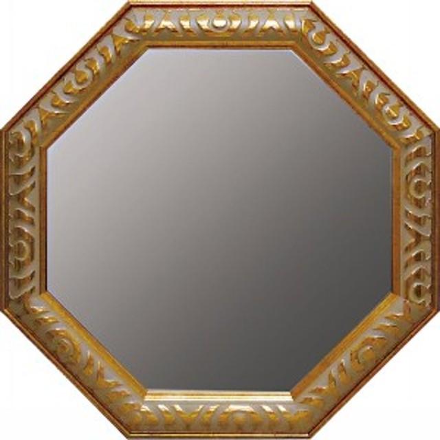 鏡アンティーク八角ミラーインテリア
