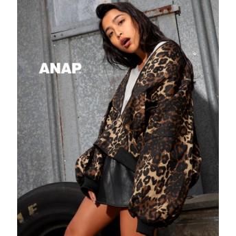【セール開催中】ANAP(アナップ)●レオパードオーバーサイズブルゾン