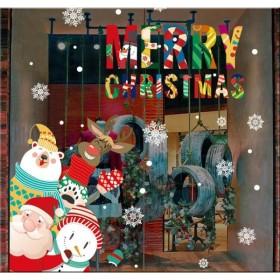 クリスマス ガラスフィルム ウォールステッカー F クリスマスステッカー インテリアシール クリスマスツリー 壁紙 窓