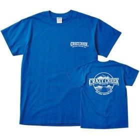 クレイジークリーク Crazy Creek Crazy Creek ロゴTシャツ ブルー/ホワイト