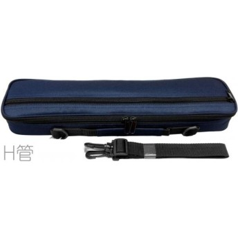 M's(エムズ) MFC/1H NAVY ネイビー フルートケースカバー アウトレット H管 フルートケース ハードケース用 ケースカバー 青色 紺色 flute case H足部管用