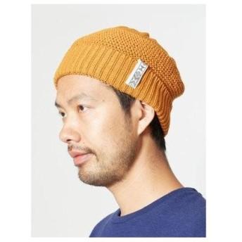 【チャイハネ】手編みシンプルニットキャップ イエロー