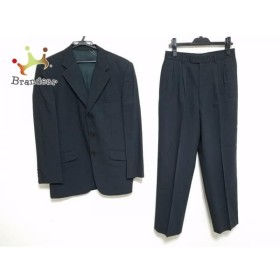 ポールスミス PaulSmith シングルスーツ サイズM メンズ 黒×グレー ストライプ         スペシャル特価 20190626【人気】