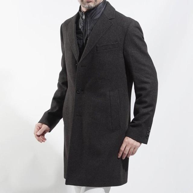 ボスヒューゴボス BOSS HUGOBOSS フロントライナー付き コート BLACK NADIM ブラック ナディム ブラウン 大きいサイズあり メンズ nadim4-50394047-202