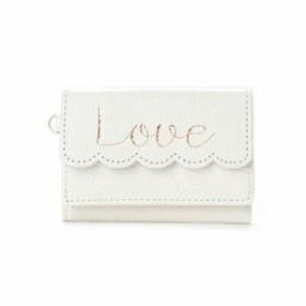 サマンサタバサ プチチョイス イニシャルシリーズ ミニ財布 LOVE オフホワイト