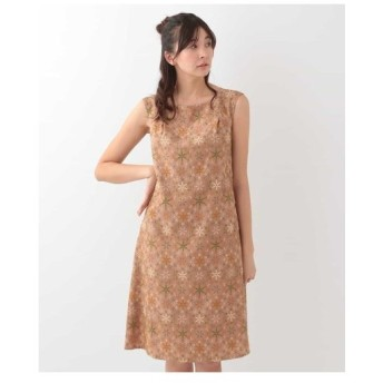 Jocomomola / MARMEID EMB 総刺繍スノークリスタル ノースリーブドレス