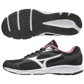 ミズノ ランニング ジョギングシューズ  レディース レディース マキシマイザー20 ブラック×ホワイト×ピンク MIZUNO K1GA180102