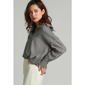 LAUTREAMONT / 【キュプラの素材の接触冷感】ビッグシルエットの抜き衿チェックシャツ