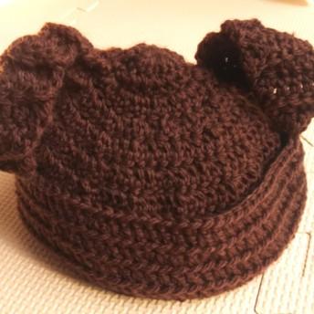 タレの耳ウサギのベビーニット帽