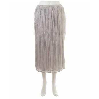eur3 / 【大きいサイズ】サテンプリーツスカート