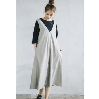 LIPSTAR / グレンチェック&無地ジャンパースカート