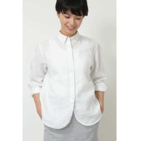 HUMAN WOMAN / ◆ボタンダウン麻シャツ