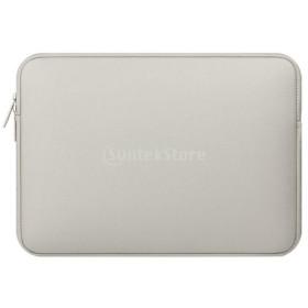 防水 耐久性 スリーブポーチ 収納ケース 保護カバー ジップ式 13.3インチ MacBook Air/ ProTablet 用 - グレー