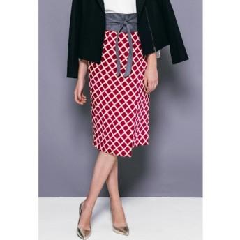 VICKY / 幾何柄プリントラップスカート