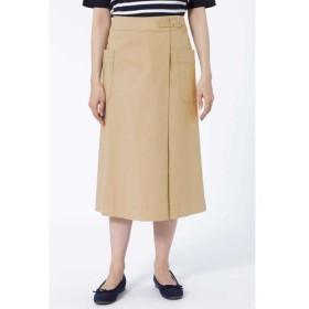HUMAN WOMAN / コットン二重織ラップスカート