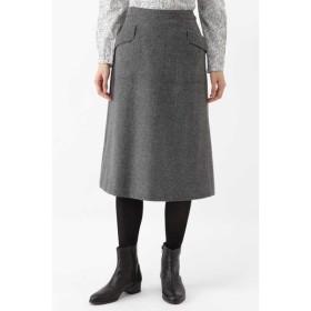HUMAN WOMAN / シャークツィードフレアスカート