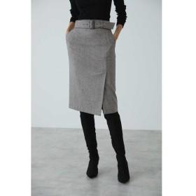 PINKY&DIANNE / ◆ウールチドリサイドベンツスカート