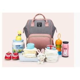 おむつバッグ おしゃれ多機能防水旅行バックパック Nappy bag 大容量アウトドアバッグ mnk369