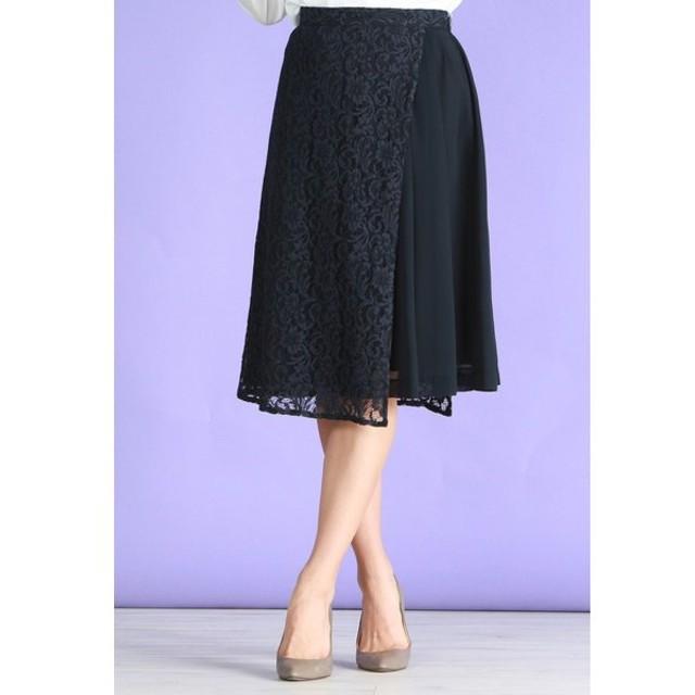 LAUTREAMONT / 【WEB別注】レース切り替えきれい目スカート