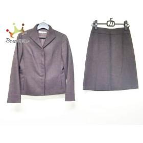 ニジュウサンク 23区 スカートスーツ サイズ38 M レディース ダークブラウン×黒     スペシャル特価 20190525