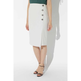 BOSCH ボッシュ / [WEB限定商品][ウォッシャブル]リネン調ツイル巻き風スカート