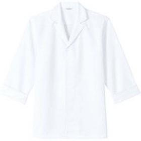 チトセ DN8206 白衣(七分袖)〔兼用〕 4L DN8206_C-1白_4L (取寄品)