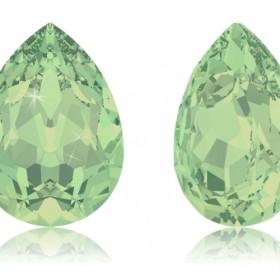 【スワロフスキー#4320】2粒 Pear-shaped 8x6mm クリソライトオパール (294) F