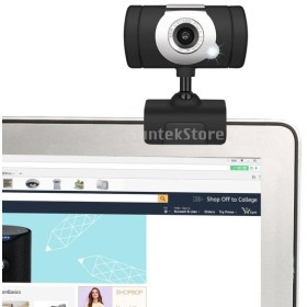 Perfk A847 HDウェブカメラ  480P 1 LED USBウェブカメラ カメラ/マイクナイトビジョン PCに対応 角度調整可能