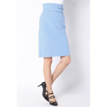 Viaggio Blu / ≪大きいサイズ≫【セットアップ対応】コルセットベルト付きパールニットタイトスカート