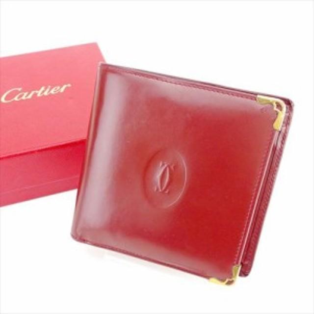 6423d0994b16 カルティエ Cartier 二つ折り財布 財布 小物 サイフ 財布 小物 メンズ可 マストライン 【中古
