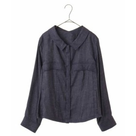 HIROKO BIS GRANDE / 【洗える】リネン混シャンブレーショートジャケット