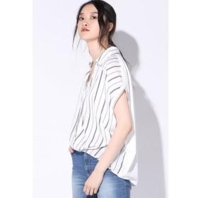 VICKY / 異素材スキッパーシャツ