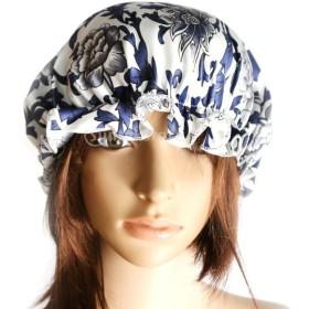 GRALARAphenovo 女性 睡眠キャップ 室内帽子 ナイトキャップ 髪ボンネット シルク キャップ 睡眠帽子 全3パタン - 青