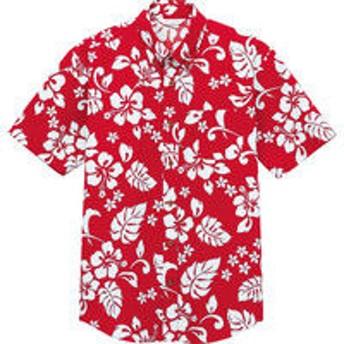 チトセ EP8300 アロハシャツ(半袖) M EP8300_C-2レッド_M(取寄品)