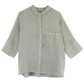 120%LINO / リネンドロップショルダーシャツ(6分袖)