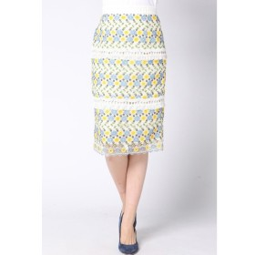 QUEENS COURT / ケミカルレースタイトスカート
