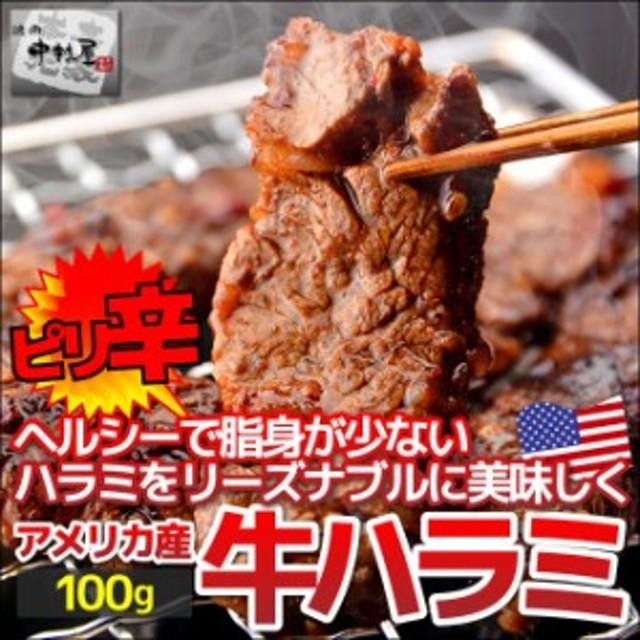 お歳暮 ギフト 内祝い 牛肉 プライム ピリ辛 ハラミ 100g 横隔膜 焼肉 バーベキュー