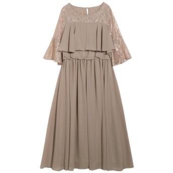 kana / レースフレアスリーブロングドレス