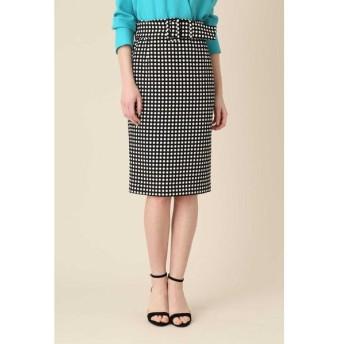 PINKY&DIANNE / ポルカドットベルト付きタイトスカート