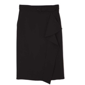 PINKY&DIANNE / [洗える]アシンメトリーラッフルカラースカート