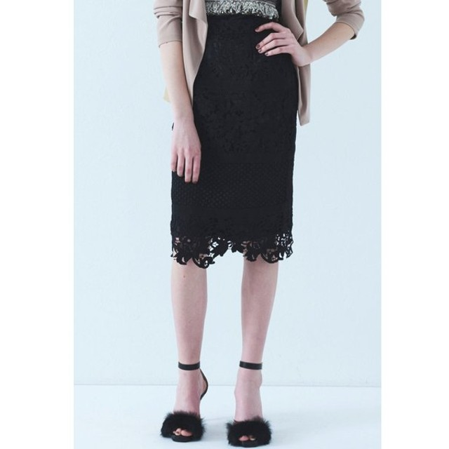 VICKY / レース切り替えタイトスカート