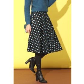 Viaggio Blu / 〜DEUTEL〜 カットジャカードメタリックヤーン切り替えフレアスカート