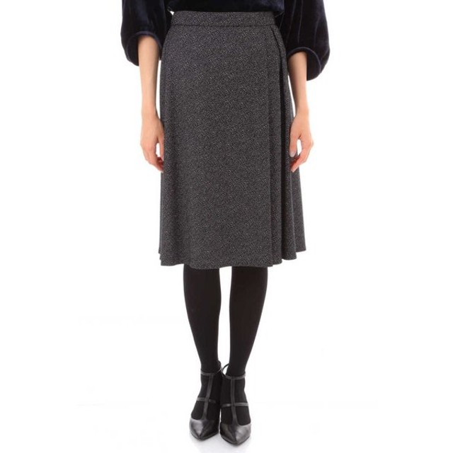 NATURAL BEAUTY / へリンボンジャガードスカート