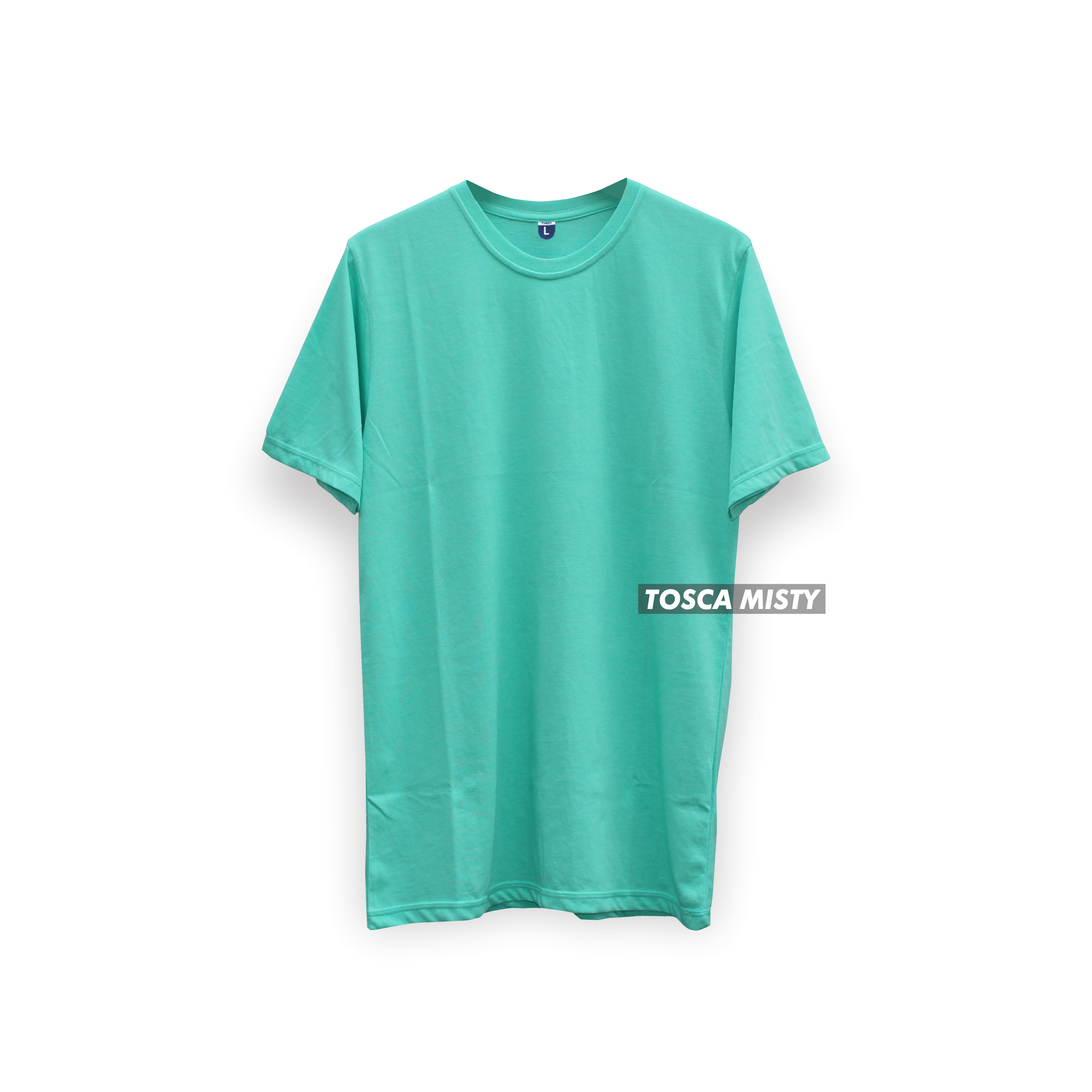 Cottonbdg Shop Line Kaos Polos Green Misty Lengan Pendek Tosca