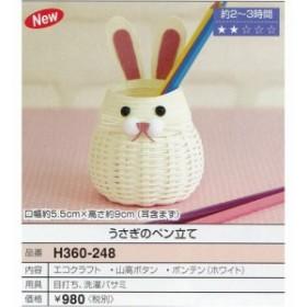 Hamanaka 手芸パック うさぎのペン立て エコクラフトのかわいいマスコットたち 【ゆうパケまた