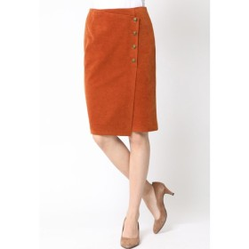 Viaggio Blu / クラッシュべロアボタン付きタイトスカート