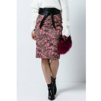 VICKY / ゴブラン風フラワージャガードタイトスカート