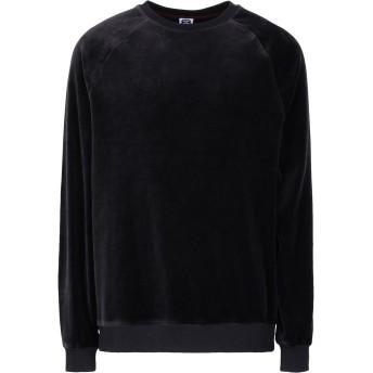 《セール開催中》8 by YOOX メンズ スウェットシャツ ブラック S コットン 86% / ポリエステル 14%